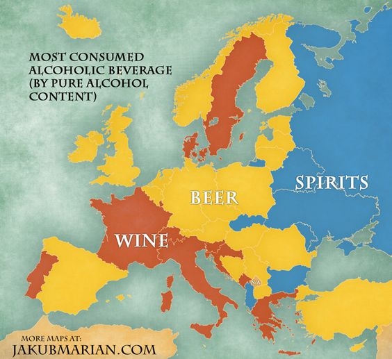 Most Consumed Alcoholic Beverage in Europe