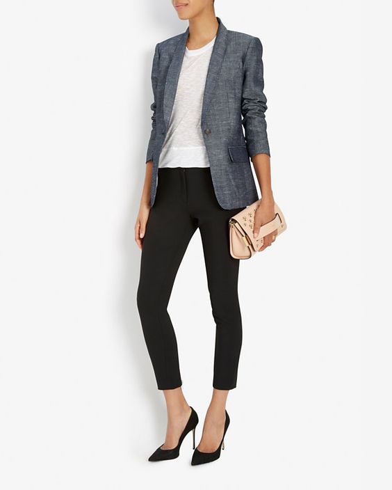 rag & bone Natalie Chambray Blazer | Shop IntermixOnline.com