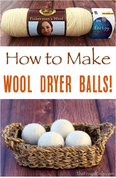 How to Make Wool Dryer Balls!  Toss the dryer sheets and use these all-natural dryer balls instead! Step-by-step tutorial at TheFrugalGirls.com