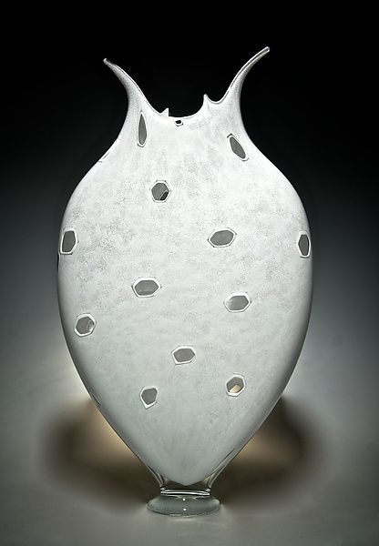 White+Thread+Foglio by David+Patchen: Art+Glass+Vessel available at www.artfulhome.com