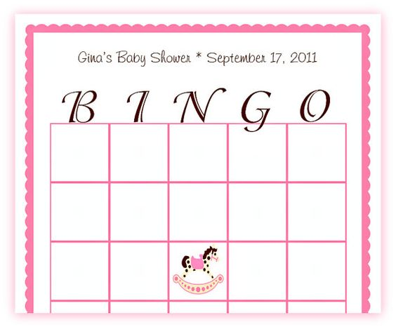 Baby shower games printable: Bingo #girl #boy #rocking horse
