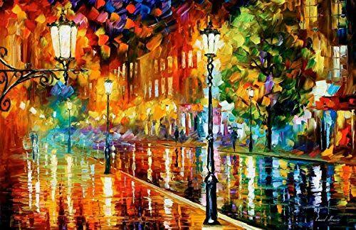 Canvas Painting Breathtaking Art By Leonid Afremov Studio Street Of Illusions Afremov Oil Painting Painting Oil Painting On Canvas