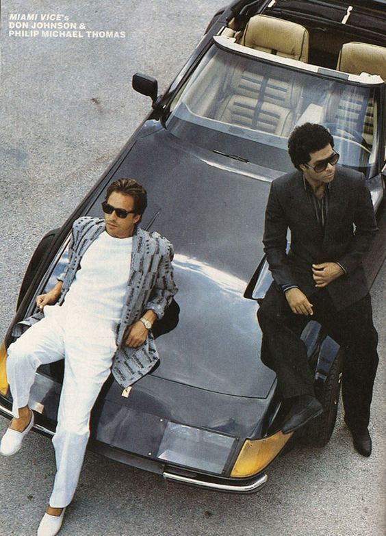 80's fashion at its best.  Miami Vice set the standard.: