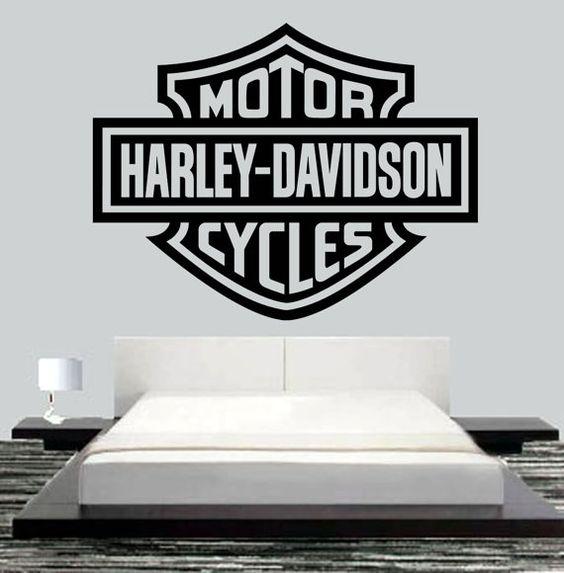 Harley Davidson Motor Wall Mural Art