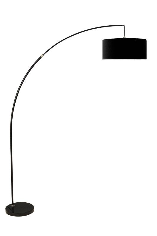 Arch Floor Lamp With Black Shade