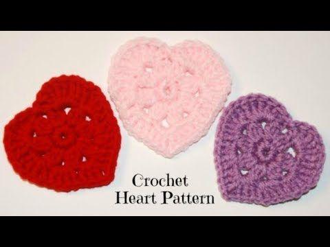 Crochet Heart Tutorial Crochet Jewel Youtube Crochet Heart Valentines Crochet Crochet Tutorial