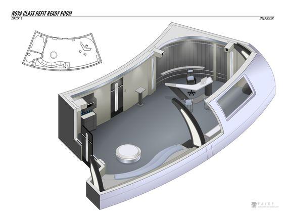 Nova Class Refit - Ready Room by falke2009 on DeviantArt