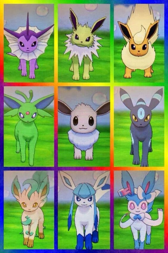 Shiny Eeveelutions I Used To Have A Eevee In Pokemon Y Now Its