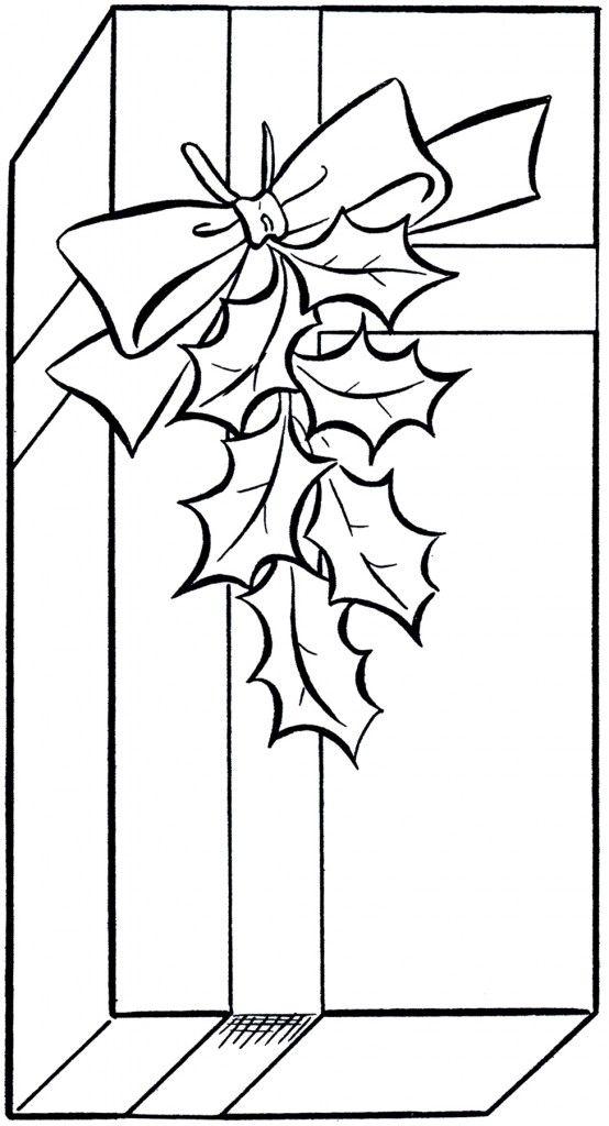 Black White Christmas Clip Art