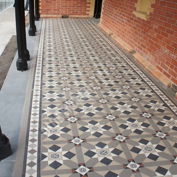 Olde english tiles australia victorian flooring cercan for Edwardian tiles for porch