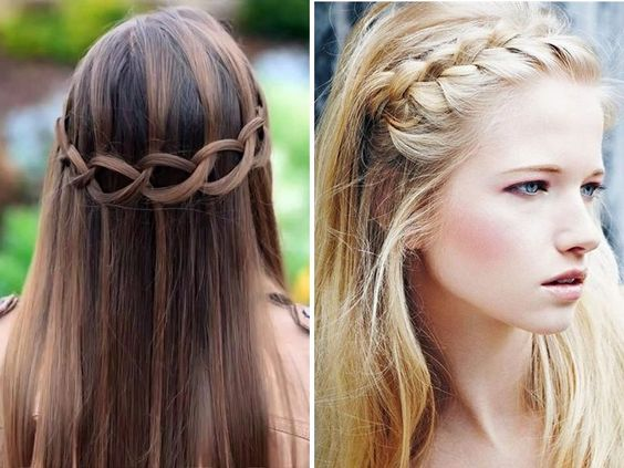 Half up half down - Popular Straight Hairstyles for Your Wedding - EverAfterGuide
