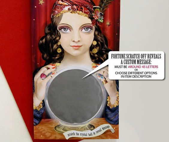 Fortune Teller Custom Message Card. I gave this to my Mom for her birthday! She loved it!: