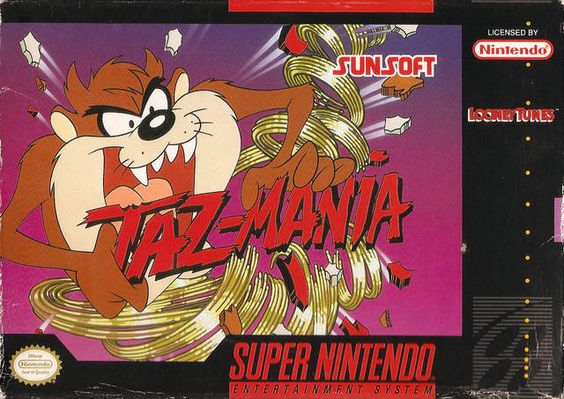 Image result for taz mania snes box