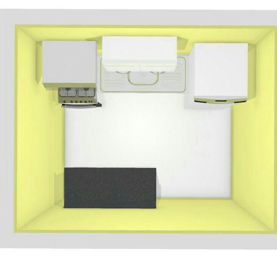 Cozinha projetada.. apartamento pequeno