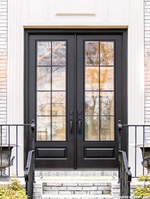 Modern French Black Double Front Entry Door In 2020 Double Front Entry Doors French Doors Exterior Front Entry Doors