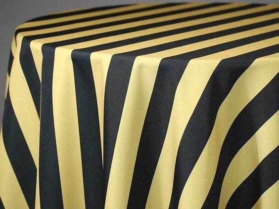 Hudson Stripe Custom Print Rectangle Tablecloths Tablecloth Fabric Custom Table Cloth Custom Print