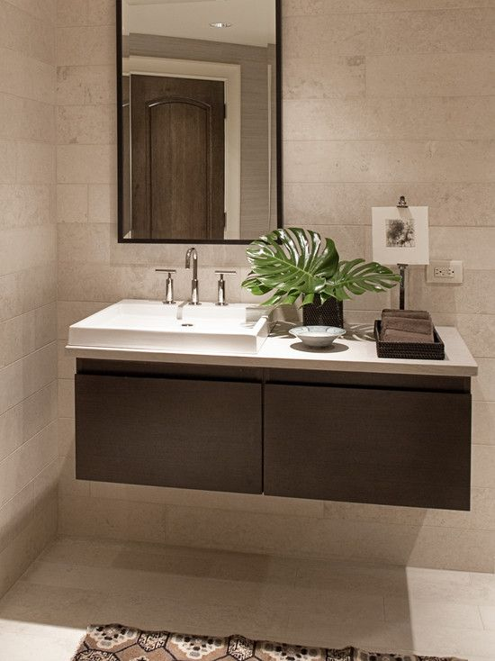 Floating vanity vanities and bathroom on pinterest Floating bathroom vanity