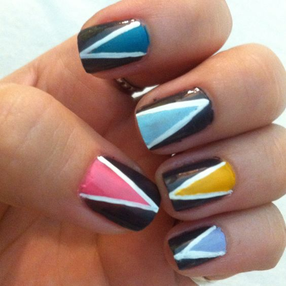 Triangles #nails #nailpolish