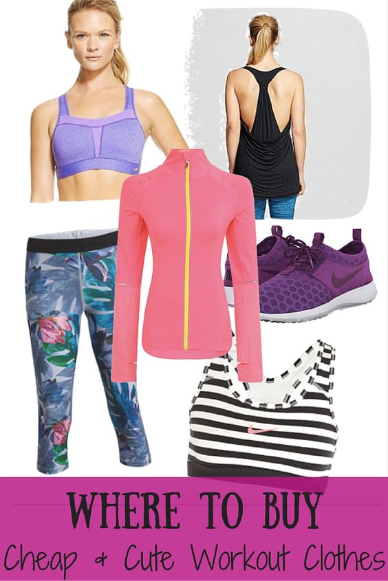 Where to Buy Cheap & Cute Workout Clothes | Wardrobes, Fitness ...