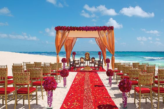 South Asian destination wedding package at Dreams Tulum Resort & Spa, Riviera Maya, Mexico
