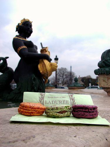 Macarons Ladurée - Place de la Concorde by Canon S3 IS in Paris, France, via Flickr