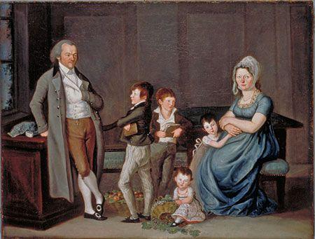 Reinhard, Joseph Portrait of Heinrich Rieter-Zeller and family, 1803