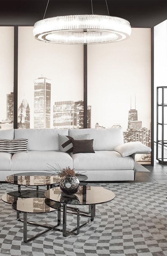 Smooth Shades Of Gray And Black Fendi Casa Hampton Sofa By Toan Nguyen Contemporary Collection