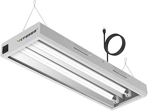 New Vivosun 6500k 2ft T5 Ho Fluorescent Grow Light Fixture For Indoor Plants Ul Listed High Output Fluorescent In 2020 Grow Light Fixture Grow Lights Fluorescent Tube