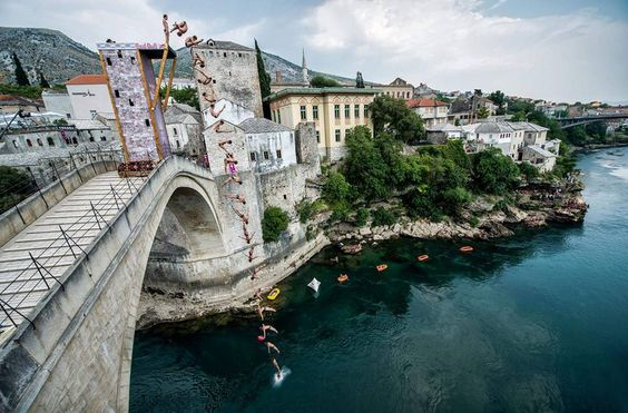 RED BULL CLIFF DIVING MOSTAR 2016 | Places to Visit | Pinterest | Red bull and Cliff diving