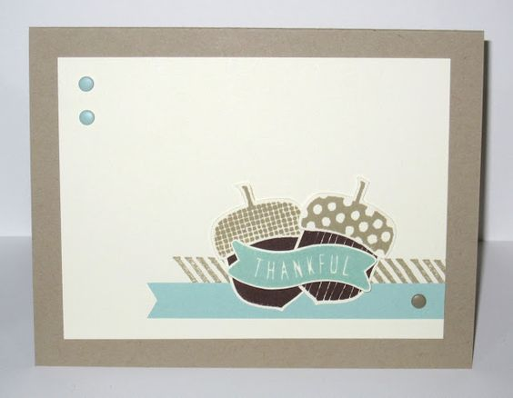Snapdragon Stamps: Little Acorns for the Nachos