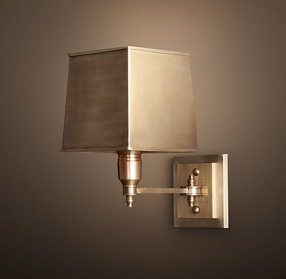 Restoration hardware claridge single sconce with metal for Restoration hardware window shades