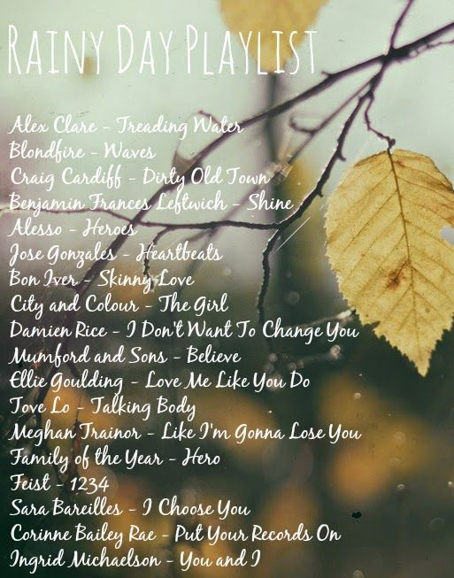 Rainy day playlist playlists songs and song list ccuart Gallery
