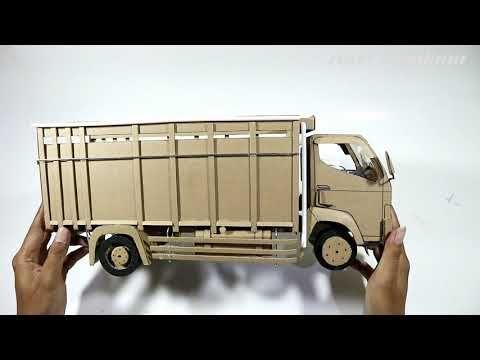 Pembuatan Miniatur Truk Canter Dari Kardus Part2 Youtube Mainan Kayu Kardus Truk