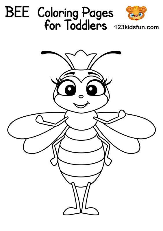 Bee Game Free Printables 123 Kids Fun Apps Bee Coloring Pages Bee Games Coloring Pages