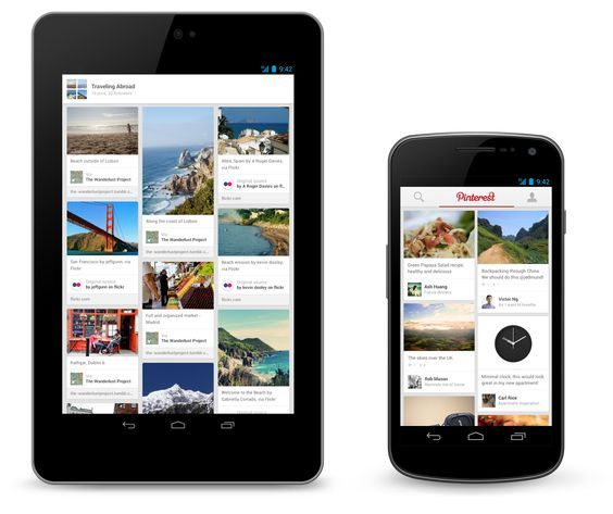 Pinterest apps para Android