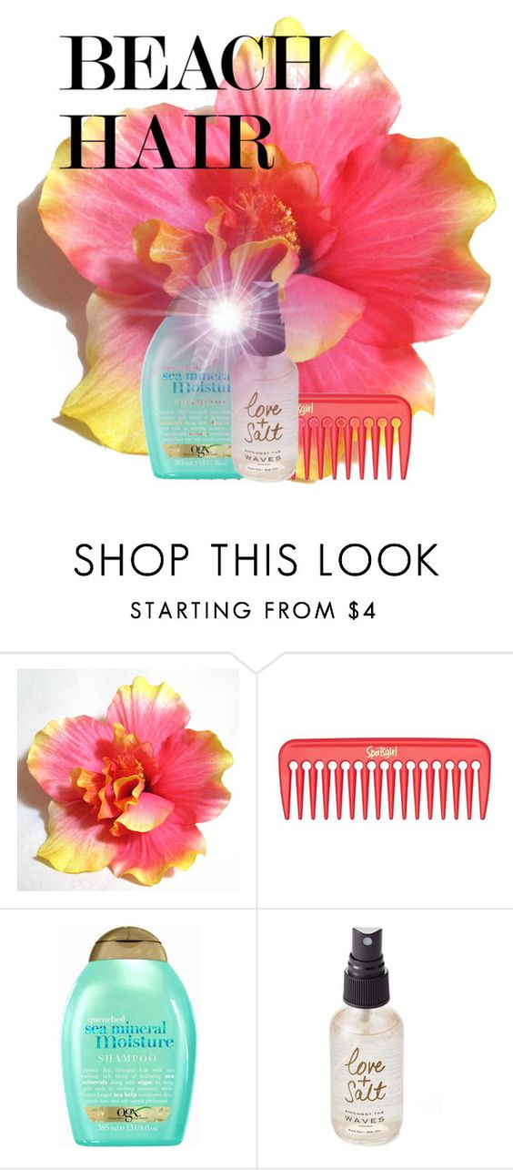 """Beach hair"" by elisapar ❤ liked on Polyvore featuring beauty, Organix, Olivine and beachhair"