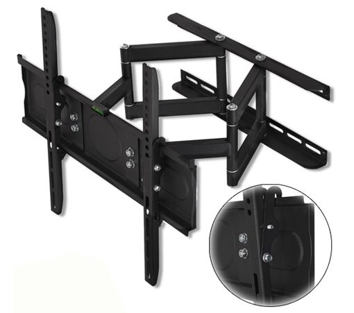 "6/28/2012  $39.99 Cheetah Mounts Articulating Mount w/ Motion Swing Out, Tilt, Swivel & Dual Arms for 32""-65"" Flat Screen TV's"