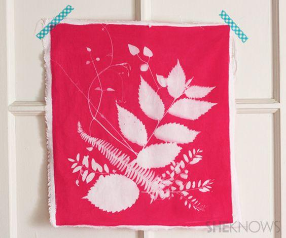 Botanical fabric prints
