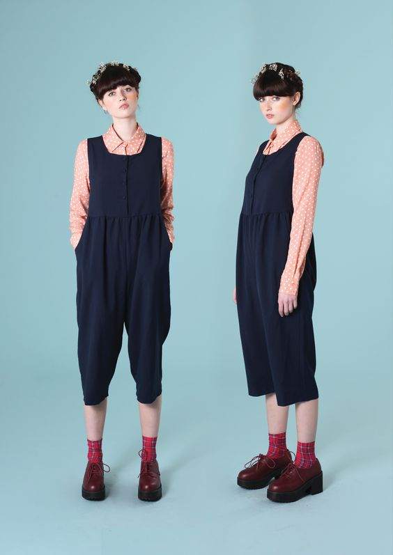 Sleeveless Jumpsuit Navy http://www.thewhitepepper.com/collections/bottoms/products/sleeveless-jumpsuit-navy Peplum Polka Shirt Coral http://www.thewhitepepper.com/collections/tops/products/peplum-polka-shirt-coral Leather Chunky Heel Brogue Burgundy http://www.thewhitepepper.com/collections/shoes/products/leather-chunky-heel-brogue-burgundy