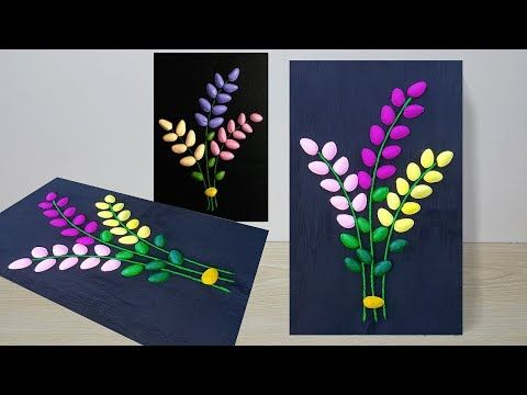 Diy Wall Decor Idea From Waste Materials Wall Hanging Craft