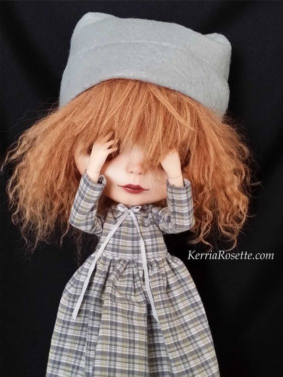 Plaid Dress and Hat Set for Blythe by KerriaRosette on Etsy, $40.00