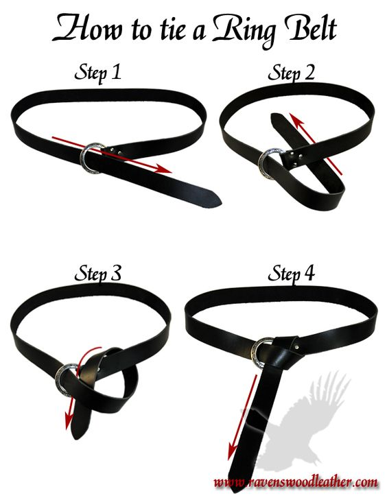How to tie a Ring Belt 101
