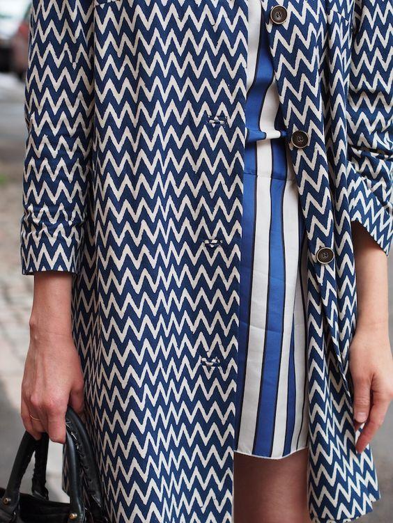 Stripe Print Fashion