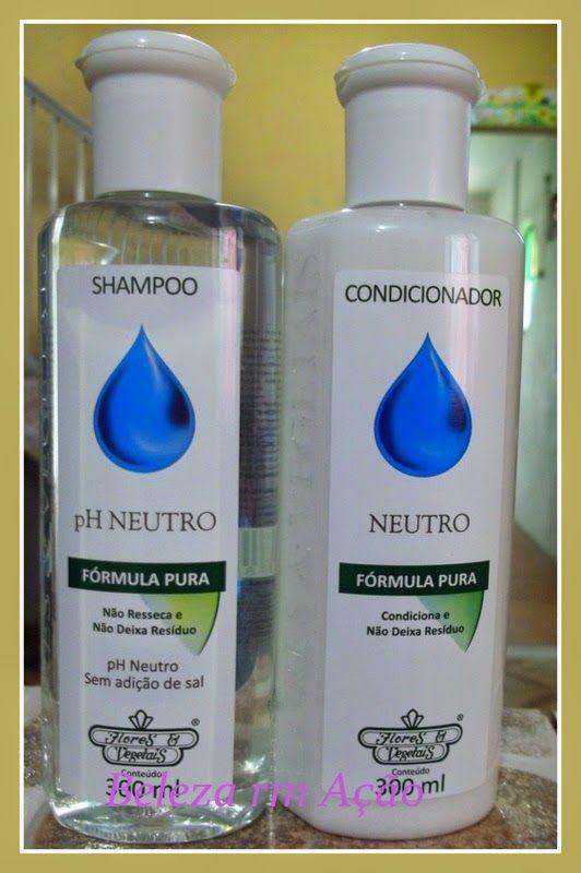 BELEZA EM AÇÃO: Shampoo e Concionador com PH neutro - Flores & Veg...