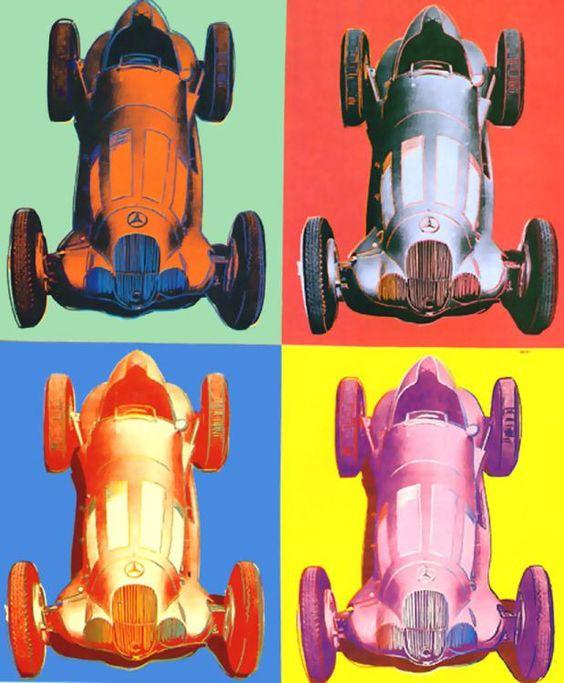 'Benz Rennwagen' von Andy Warhol (1928-1987, United States)