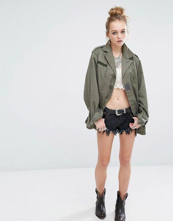 Bild 4 von Reclaimed Vintage – Jacke im Militär-Stil