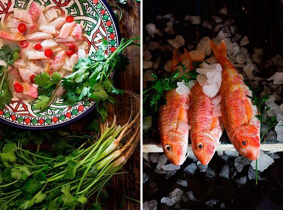 Yerbabuena en la cocina: Ceviche de salmonetes
