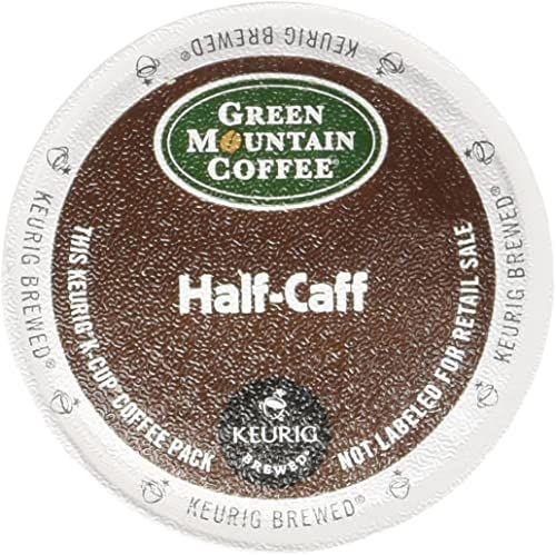 Enjoy Exclusive For Green Mountain Coffee Half Caff Single Serve Keurig K Cup Pods Medium Roast Coffee 72 Count 3 Boxes 24 Pods Online Green Mountain Coffee Keurig Coffee Roasting