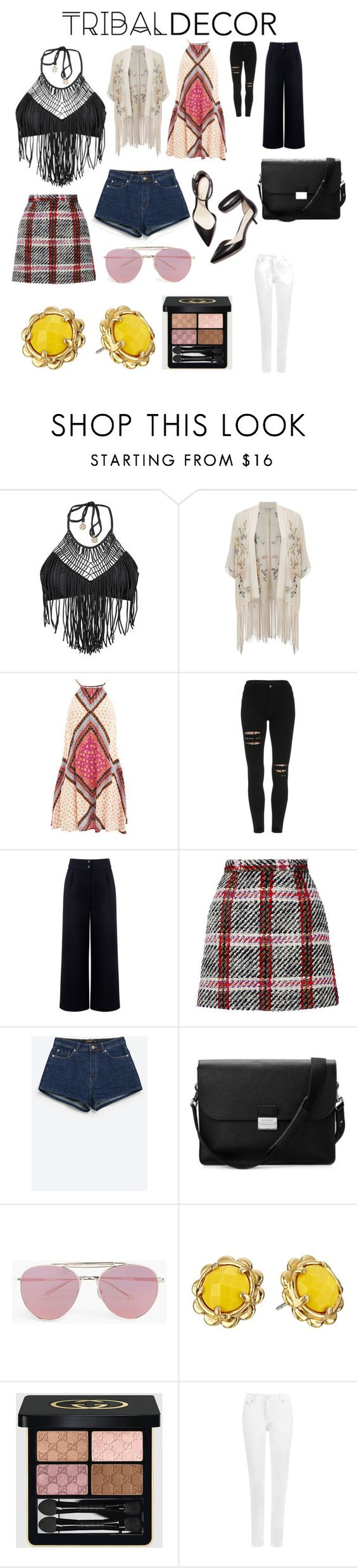 """tribal"" by emilysh02 ❤ liked on Polyvore featuring Luli Fama, Miss Selfridge, MINKPINK, Être Cécile, Carven, Zara, 3.1 Phillip Lim, Aspinal of London, Boohoo and Kate Spade"