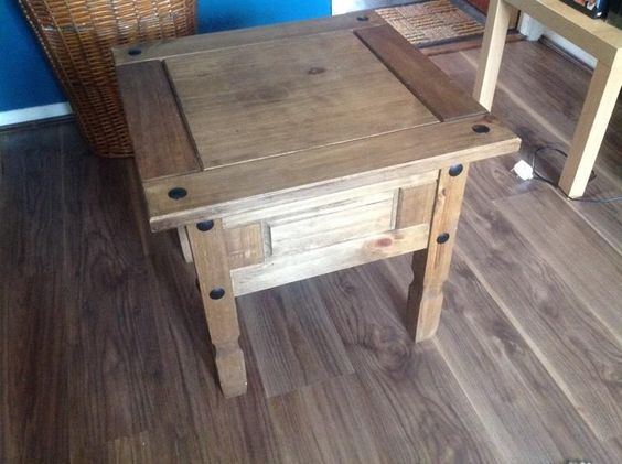 Selling Rustic Seconique Corona Solid Pine Lamp Side Table. Collection Bedford area or can possibly deliver to surrounding areas for a small fee. Can't see any of these second hand much online so grab a bargain! £25